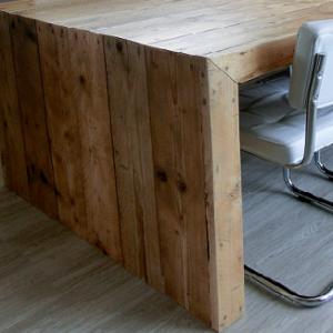 Houten tafelonderstel zijkanten van hout | stoerhout-hetgooi.nl