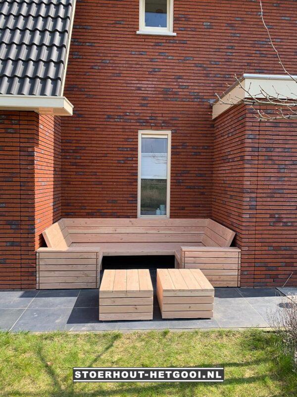 Maatwerk multifunctionele loungebank en loungebed   Stoerhout-hetgooi.nl