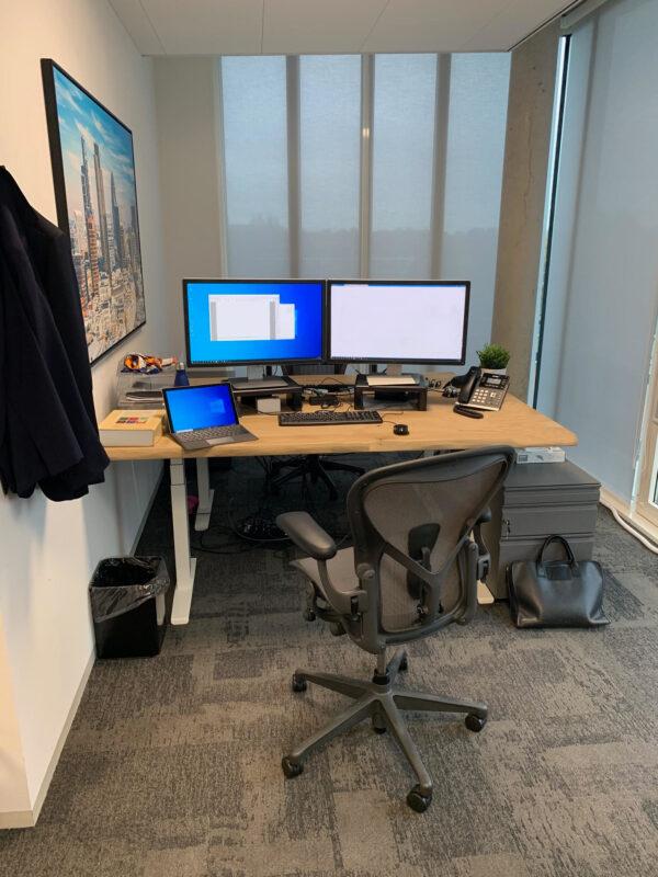 Op maat gemaakt hoog laag en of zit sta bureau | Stoerhout-hetgooi.nl
