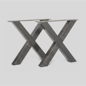 Stalen set X-poten | stoerhout-hetgooi.nl