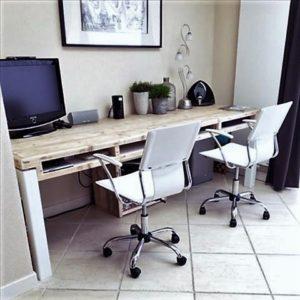 Handgemaakt houten bureau met 4 opbergvakken   stoerhout-hetgooi.nl